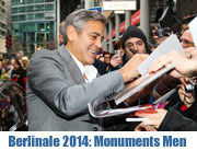 "Berlinale 2014 Weltpremiere ""Monuments Men - Außergewöhnliche Helden"" am 08.02.2014 mit George Clooney, Matt Damon, Bill Murray und Jean Dujardin (©Foto: Twentieht Century Fox)"