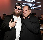 "Mc Fitti und Jose Redondo-Vega / GQ  Dinner Night am Vorabend des GQ ""Männer des Jahres Award"" im DRIVE. Volkswagen Group Forum in Berlin am 09.11.2016    Foto: BrauerPhotos / M.Nass für Volkswagen"